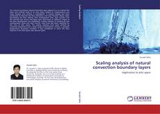 Portada del libro de Scaling analysis of natural convection boundary layers
