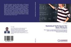 Bookcover of Statistical Techniques for Data Analysis