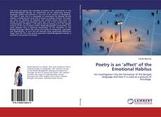 Buchcover von Poetry is an 'affect' of the Emotional Habitus