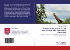 Capa do livro de Identification processes of articulation and phonemic disorders
