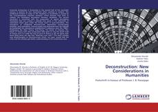 Deconstruction: New Considerations in Humanities kitap kapağı