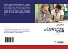 Borítókép a  Information-seeking Behavior Of University Students - hoz