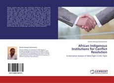 African Indigenous Institutions for Conflict Resolution的封面
