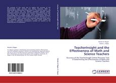 Buchcover von TeacherInsight and the Effectiveness of Math and Science Teachers