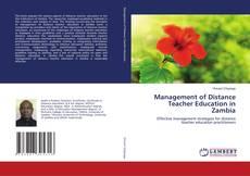 Management of Distance Teacher Education in Zambia kitap kapağı