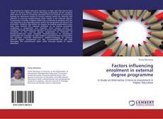Couverture de Factors influencing enrolment in external degree programme