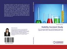 Bookcover of Stability Constant Study