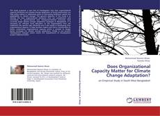 Bookcover of Does Organizational Capacity Matter for Climate Change Adaptation?
