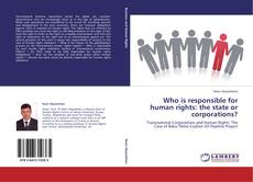 Bookcover of Who is responsible for human rights: the state or corporations?