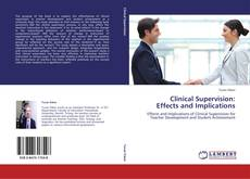 Capa do livro de Clinical Supervision:  Effects and Implications