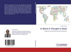 Portada del libro de In Word in Thought in Deed