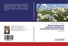 Обложка Нижегородская микротопонимия в языковой картине мира