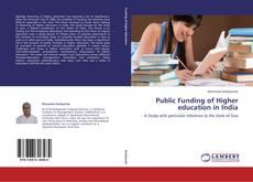 Capa do livro de Public Funding of Higher education in India