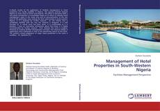 Capa do livro de Management of Hotel Properties in South-Western Nigeria