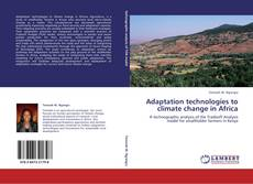 Bookcover of Adaptation technologies to climate change in Africa