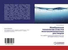 Copertina di Мембранные технологии очистки многокомпонентных растворов