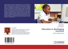 Bookcover of Education in developing countries