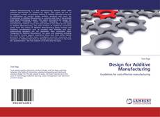 Design for Additive Manufacturing kitap kapağı