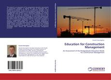 Education for Construction Management的封面
