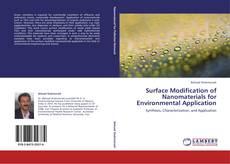 Capa do livro de Surface Modification of Nanomaterials for  Environmental Application