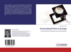 Capa do livro de Personalized Print in Europe
