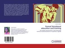 Bookcover of Formal Vocational education and training