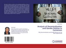 Bookcover of Analysis of Decentralization and Gender Policies in Cameroon