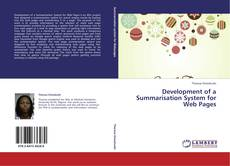 Buchcover von Development of a Summarisation System for Web Pages