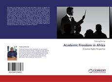 Bookcover of Academic Freedom in Africa