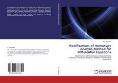 Bookcover of Modifications of Homotopy Analysis Method for Differential Equations