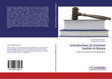 Bookcover of Introduction to Criminal Justice in Kenya