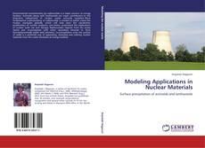 Capa do livro de Modeling Applications in Nuclear Materials