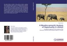 Bookcover of A Morpho-semantic Analysis of Aspectuality in siSwati