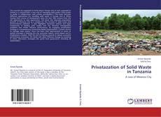 Bookcover of Privatazation of Solid Waste in Tanzania