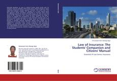 Law of Insurance: The Students' Companion and Citizens' Manual kitap kapağı
