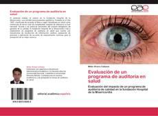Bookcover of Evaluación de un programa de auditoría en salud