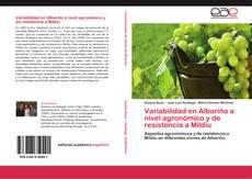 Capa do livro de Variabilidad en Albariño a nivel agronómico y de resistencia a Mildiu