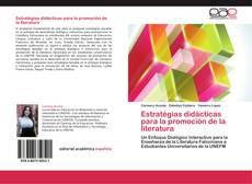 Capa do livro de Estratégias didácticas para la promoción de la literatura