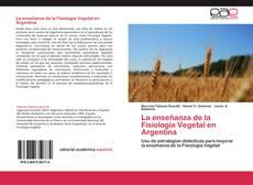 Portada del libro de La enseñanza de la Fisiología Vegetal en Argentina