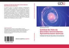 Portada del libro de Calidad de Vida de Docentes Universitarios: Aproximaciones teóricas