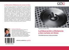 Portada del libro de La Educación a Distancia y los cursos en línea
