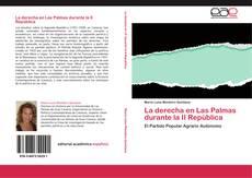 Portada del libro de La derecha en Las Palmas durante la II República
