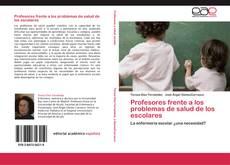Portada del libro de Profesores frente a los problemas de salud de los escolares