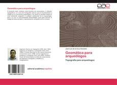 Capa do livro de Geomática para arqueólogos