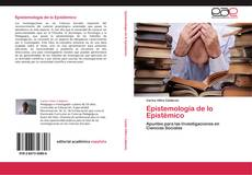 Обложка Epistemología de lo Epistémico