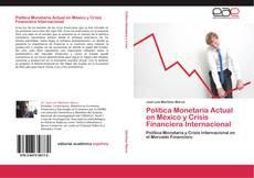 Buchcover von Política Monetaria Actual en México y Crisis Financiera Internacional