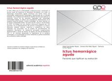 Bookcover of Ictus hemorrágico agudo