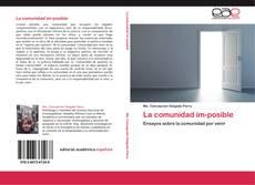 Bookcover of La comunidad im-posible