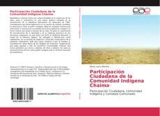 Capa do livro de Participación Ciudadana de la Comunidad Indígena Chaima