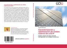 Buchcover von Caracterización y optimización de celdas solares de a-Si:H